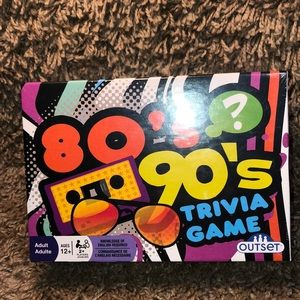 NEW 80's 90's Trivia Game Makes a great gift!!